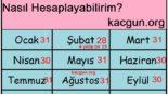 Hangi Aylar 30 Gün, Hangi Aylar 31 Gün Çeker?Hangi ay 28-29 Çeker?