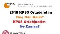 2018 KPSS Ortaöğretim Kaç Gün Kaldı? KPSS Ortaöğretim Ne Zaman?